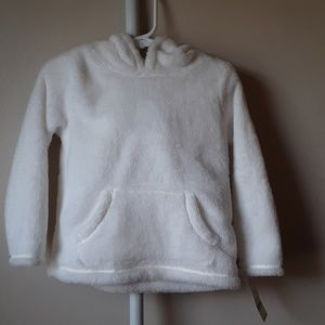NWT TODDLER WHITE HOODED SWEATER 3T